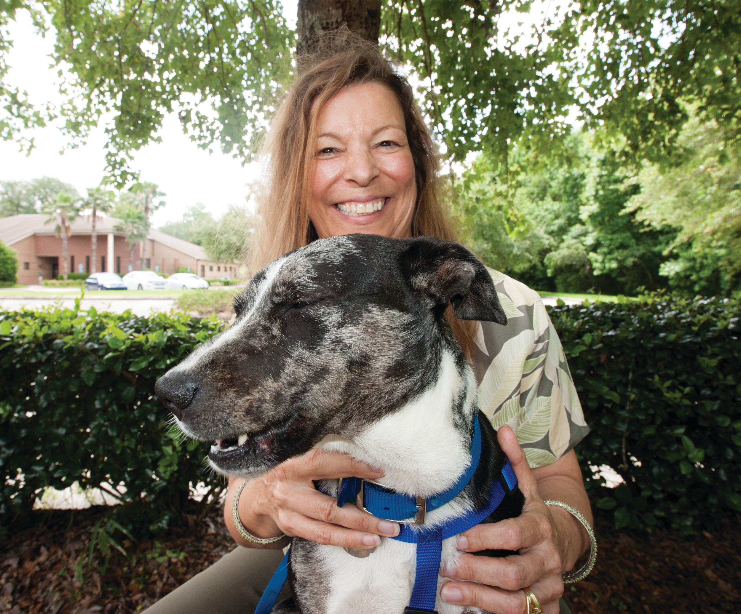 Margo Moehring adopted her dog, Astro, at the city of Jacksonville's Animal Care & Protective Services shelter on the edge of Downtown.