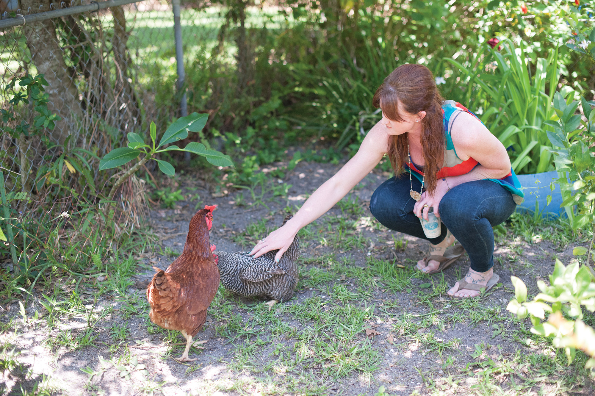 Elena Smith says each of her three chickens has her own personality.