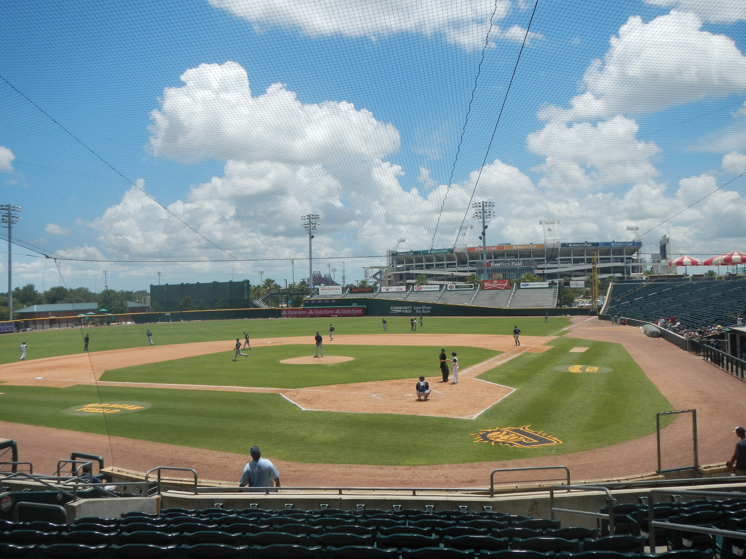 The Baseball Grounds of Jacksonville give fans a nice view of EverBank Field.