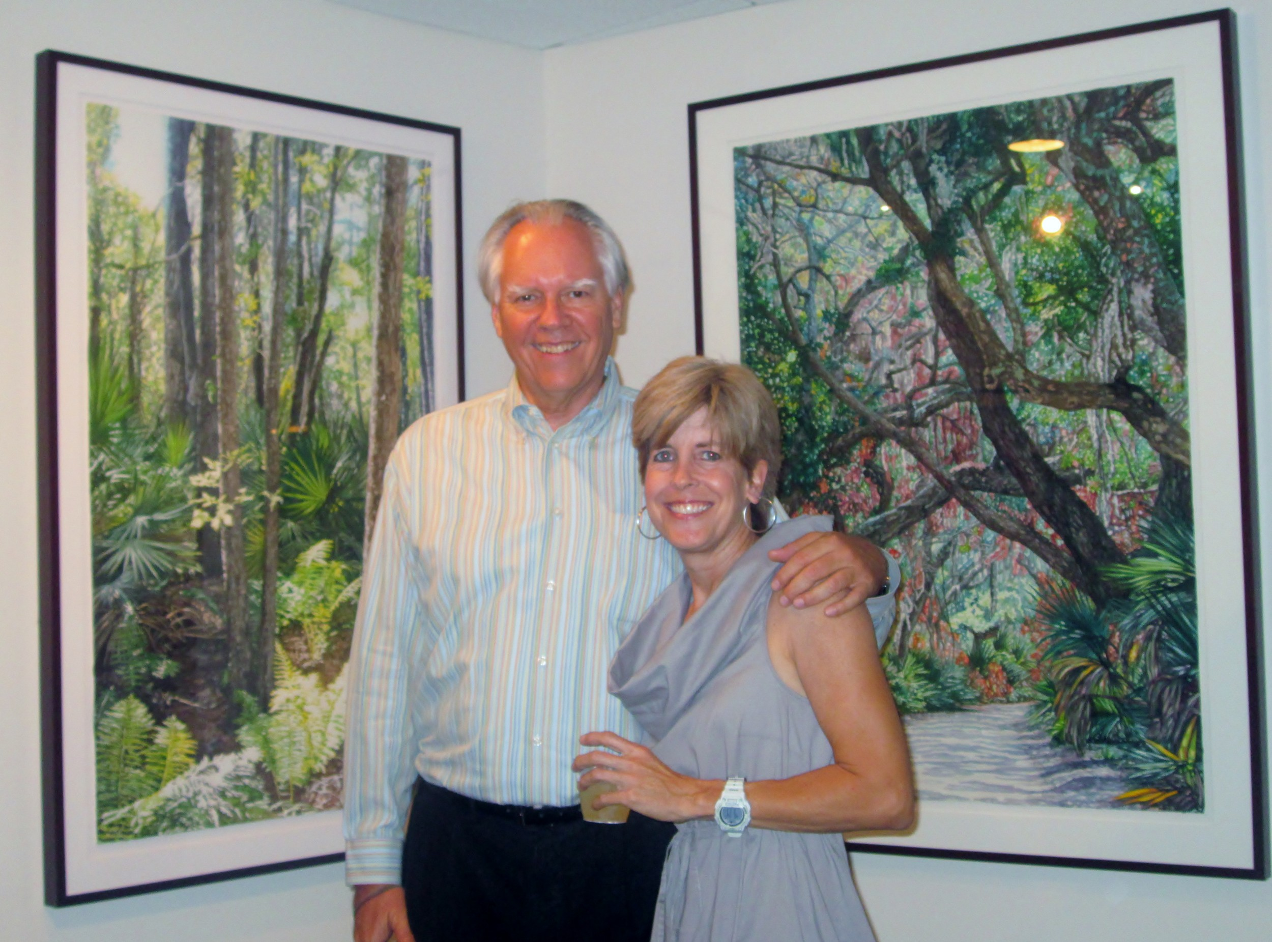 Michael Dunlap (director of Southlight Gallery), Kathy Stark