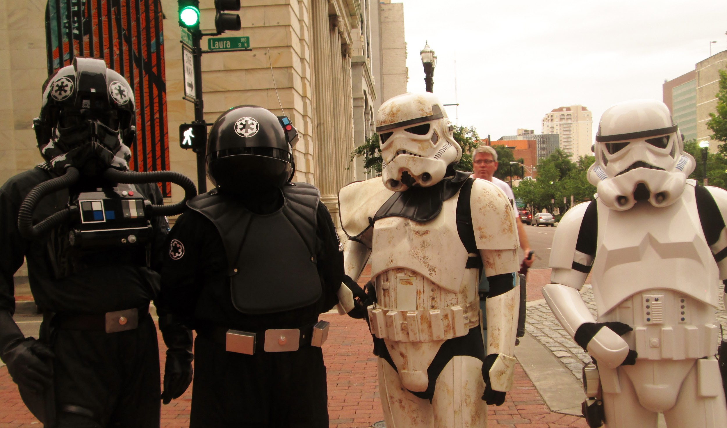 The people who dress as Star Wars characters raise awareness for nonprofit organizations.