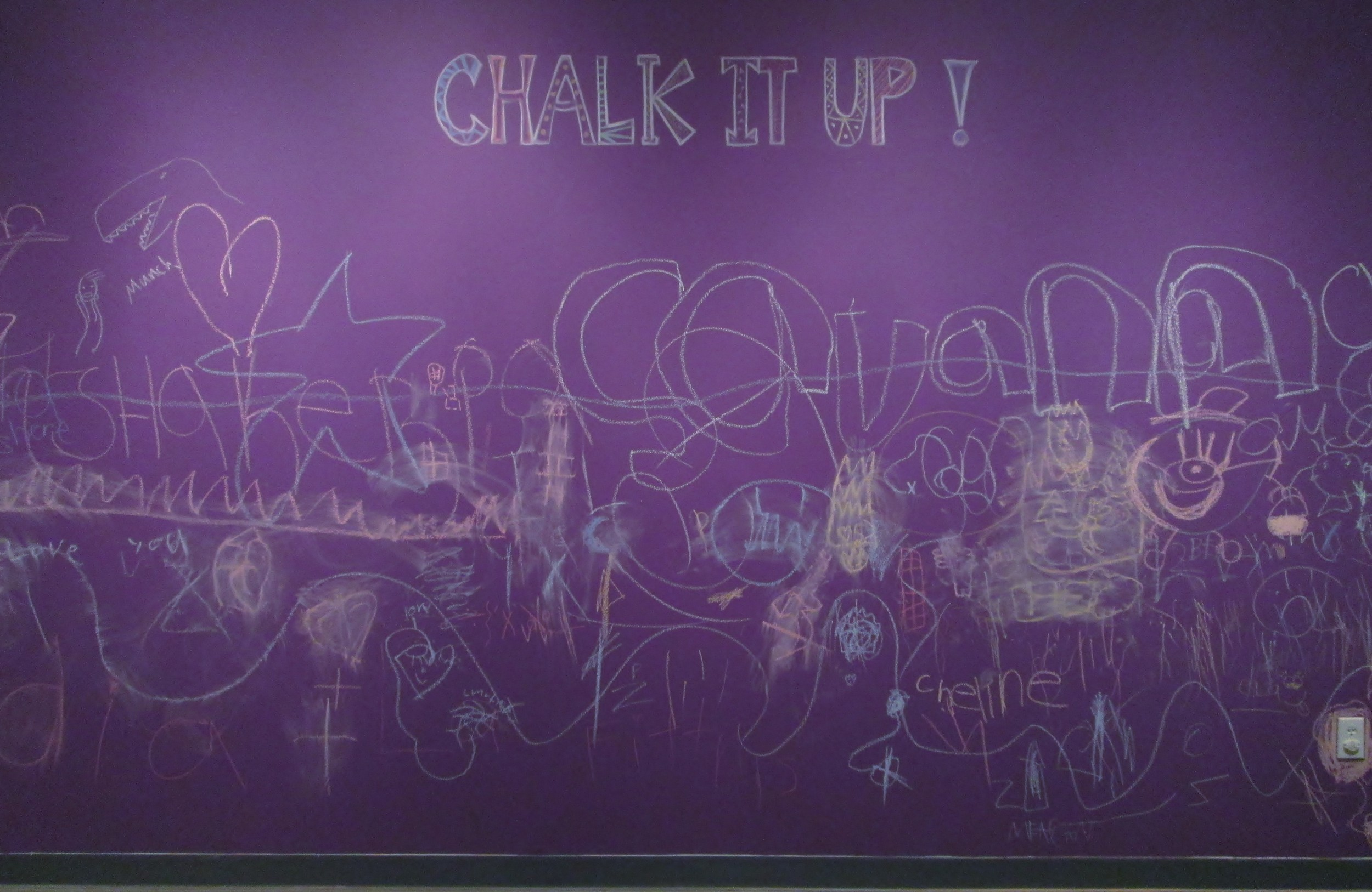 Chalk It Up! on the fifth floor of MOCA