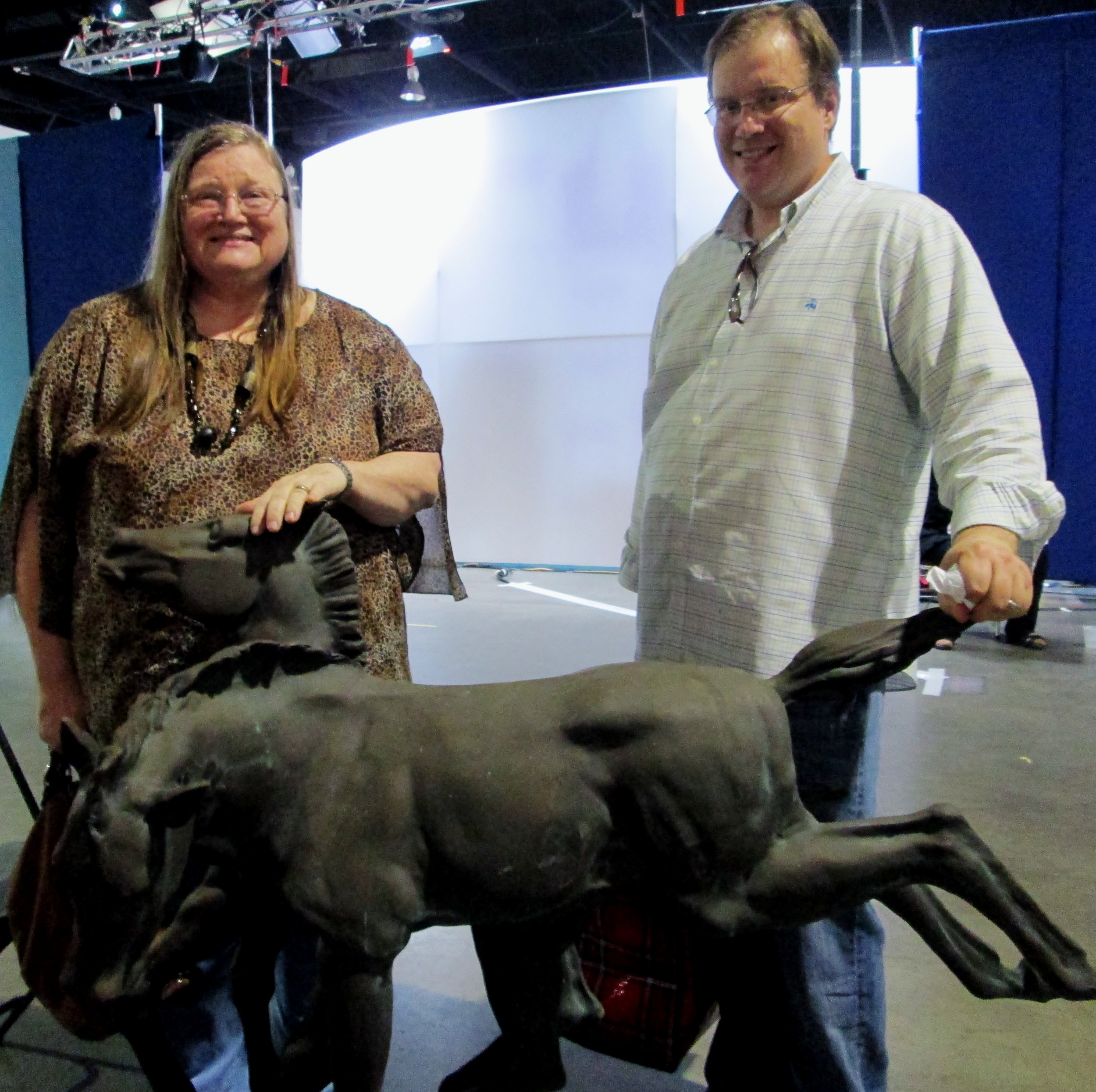 1861's bronze horse Kristine and Greg bought at an antique shop at the Beaches 15 years ago