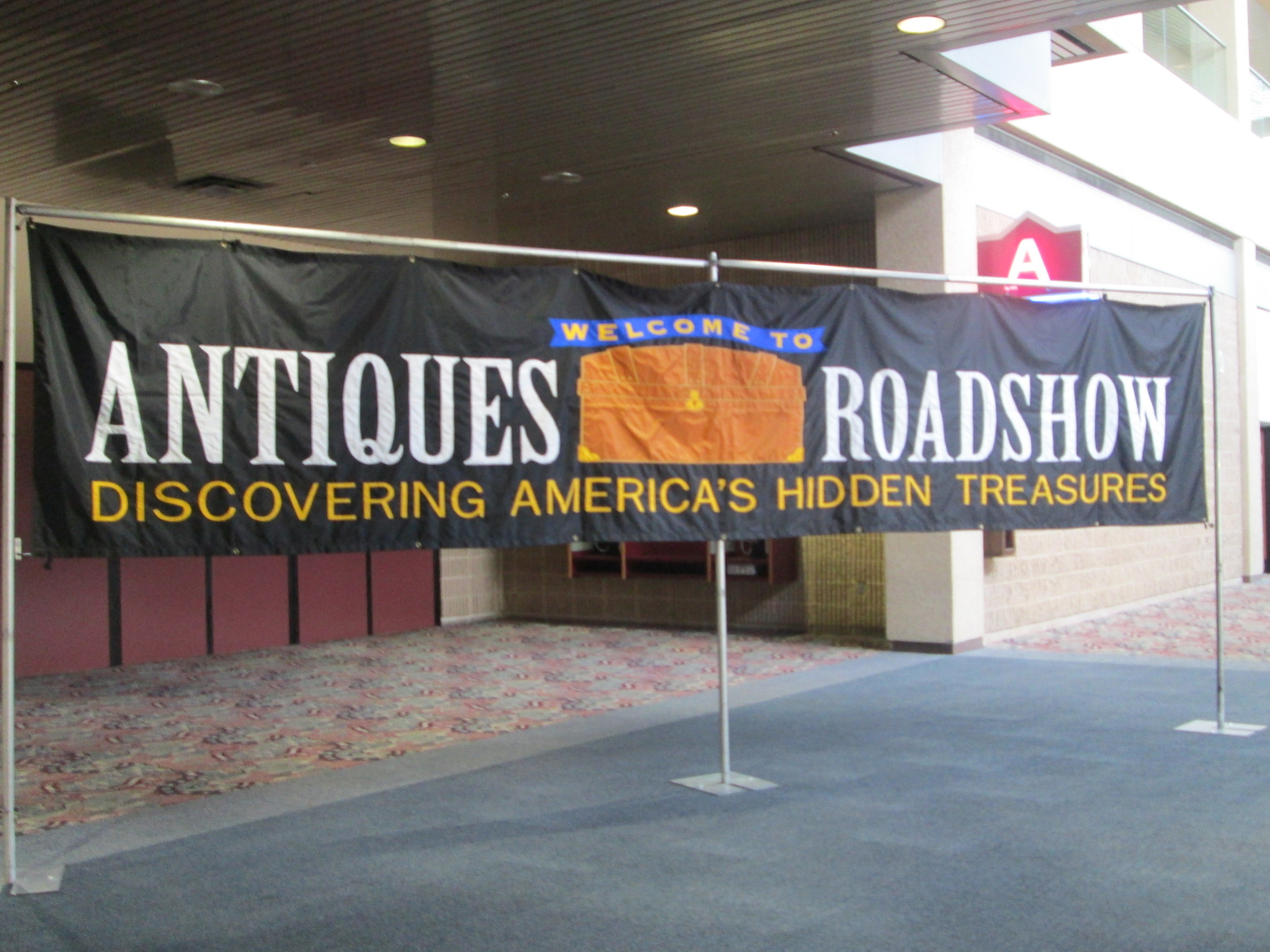 """Antiques Roadshow"" welcome banner"