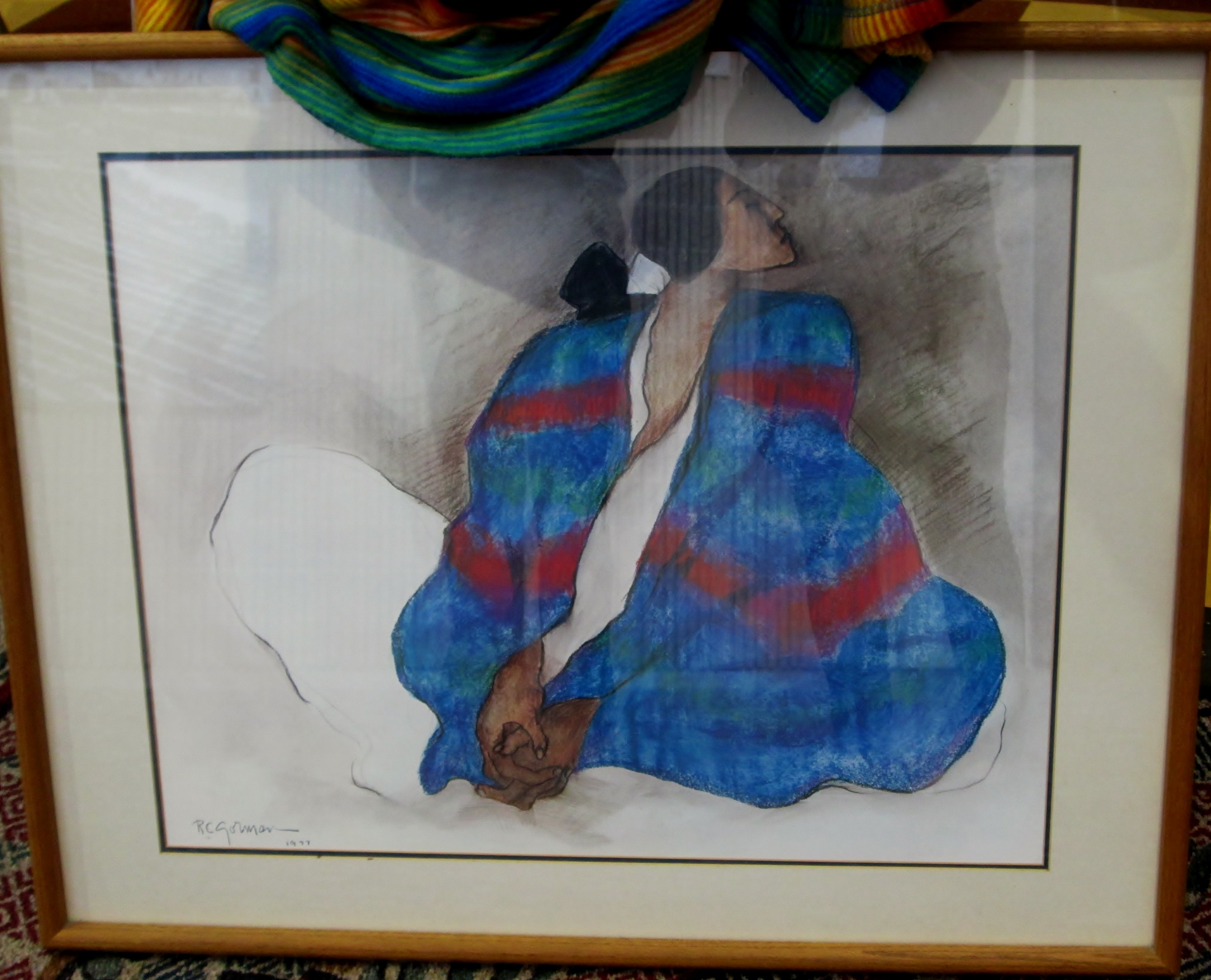 RC Gorman Native American painting from 1977