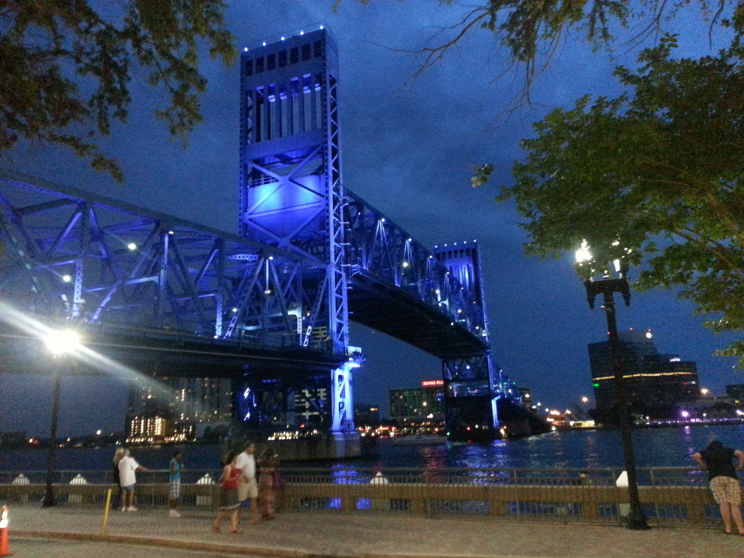THe Main Street Bridge makes a beautiful backdrop to the I Love Music Tour.