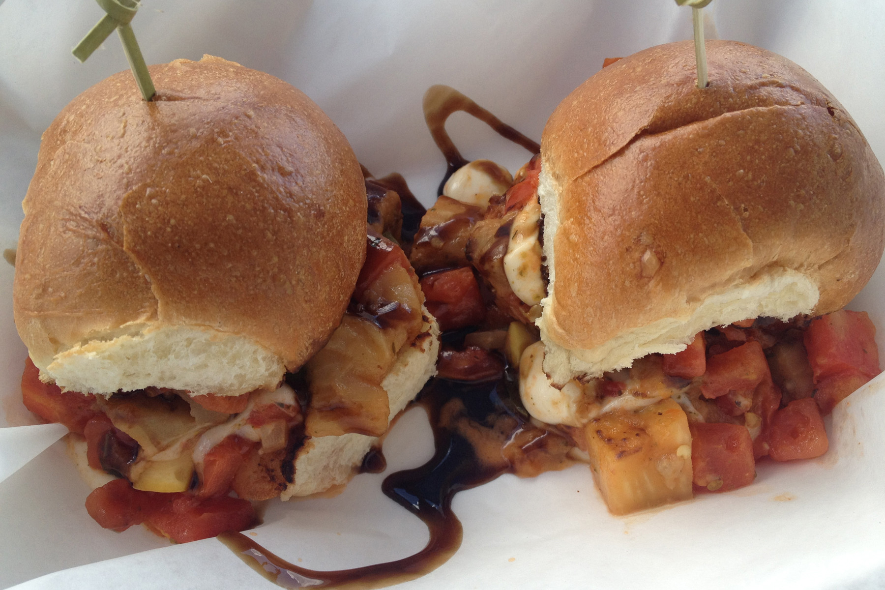 The Salty Fig got its start about a year ago as a food truck serving up Southern fare like shrimp and grits, cochon de lait and these ratatouille sliders.