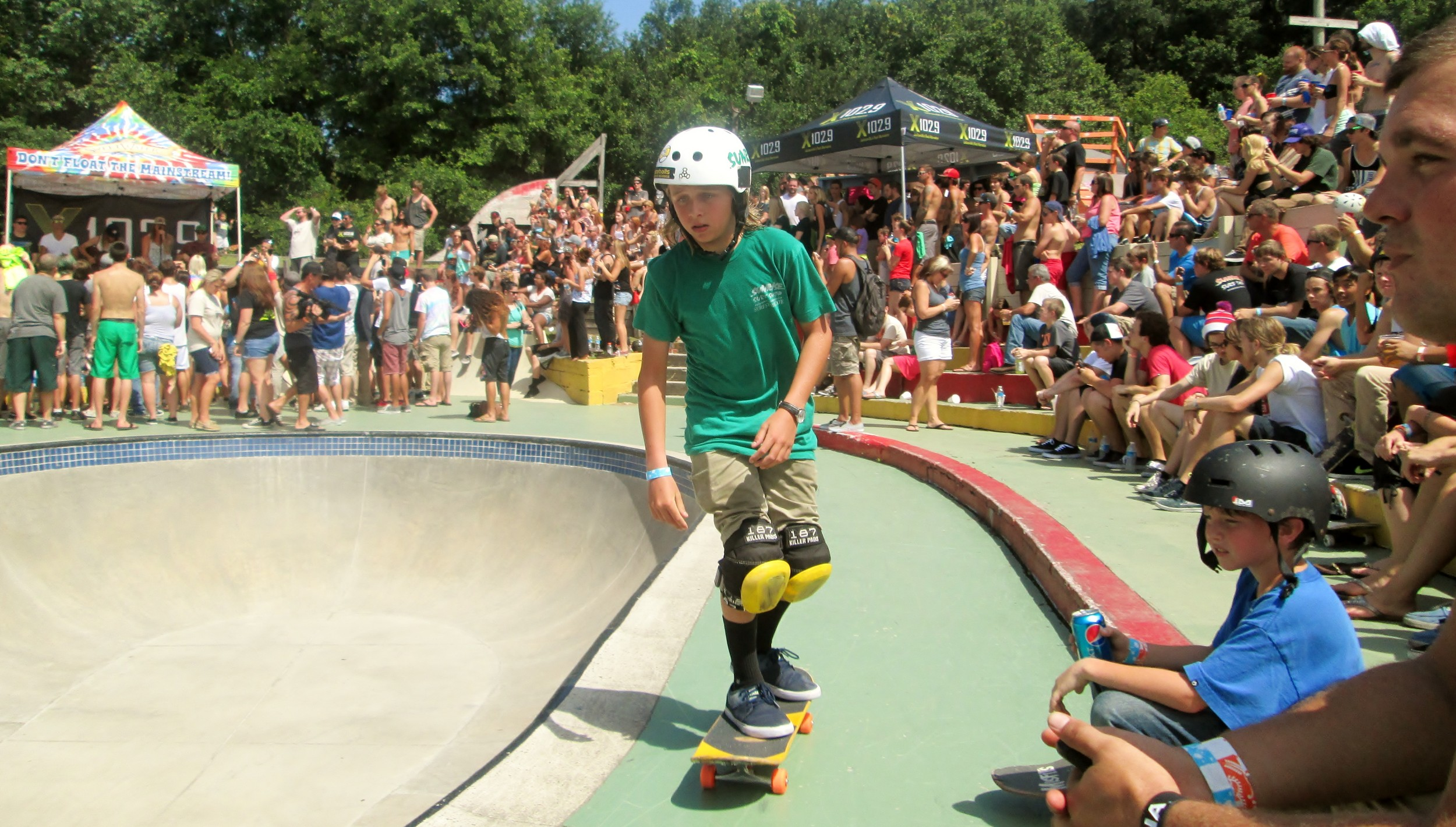 Matt Depres, an amazing young skater.  His moves blew the crowd away.