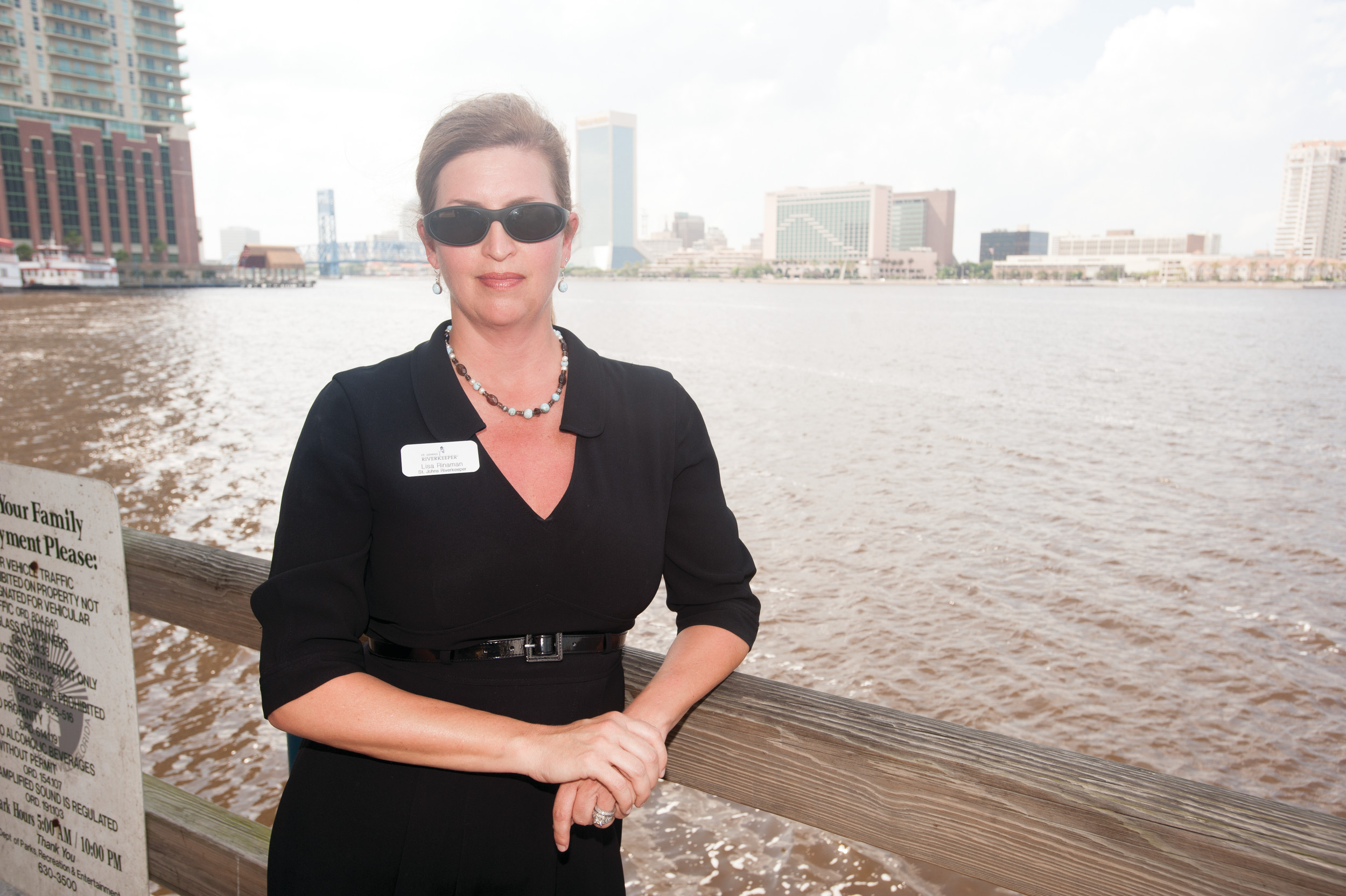 St. Johns Riverkeeper Lisa Rinaman is keeping a close eye on the environmental impact of dredging the St. Johns River channel.