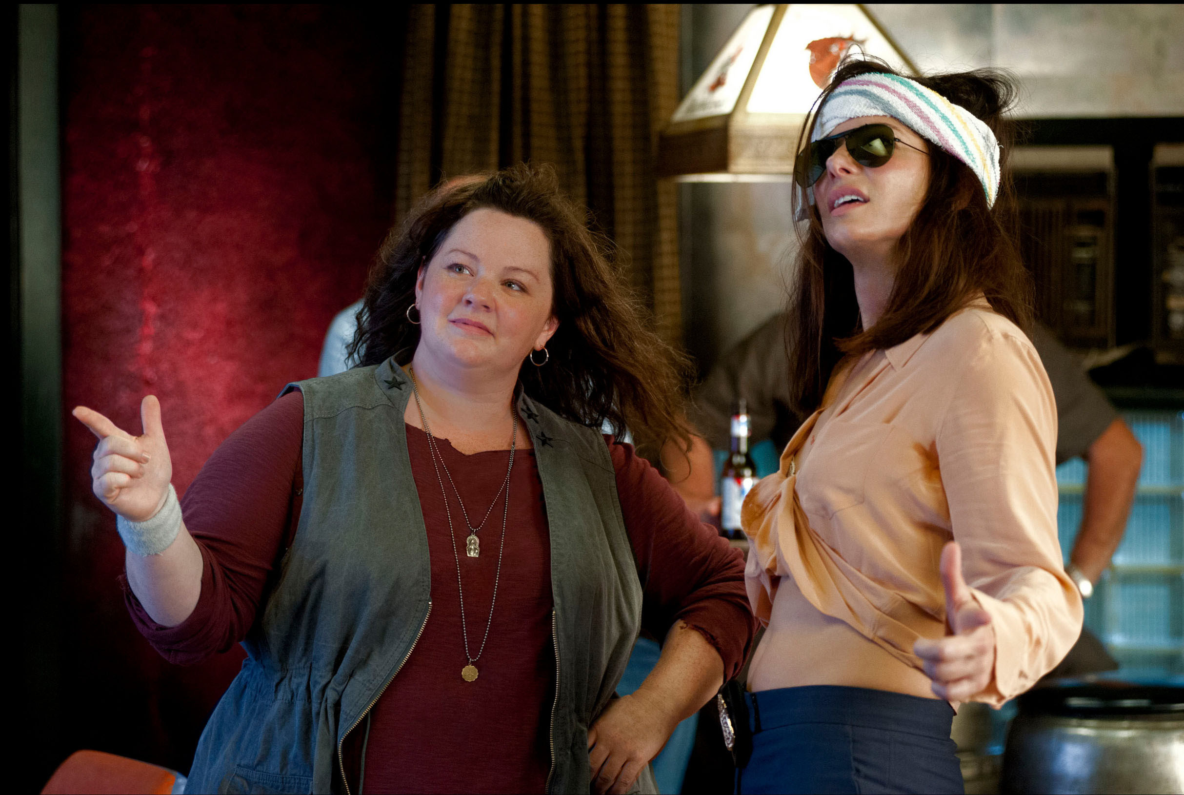 "Boston detective Shannon Mullins (Melissa McCarthy, left) and FBI Special Agent Sarah Ashburn (Sandra Bullock) hit all the buddy-movie clichés in ""The Heat,"" directed by Paul Feig."