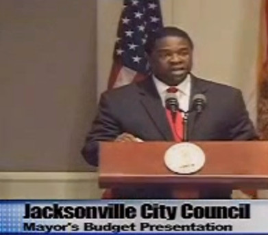 Mayor Brown addresses his constituents