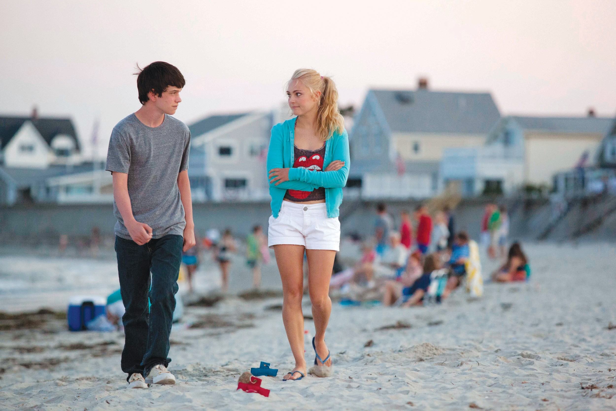 "Duncan (Liam James) finds a friend in Susanna (AnnaSophia Robb) in ""The Way, Way Back."""