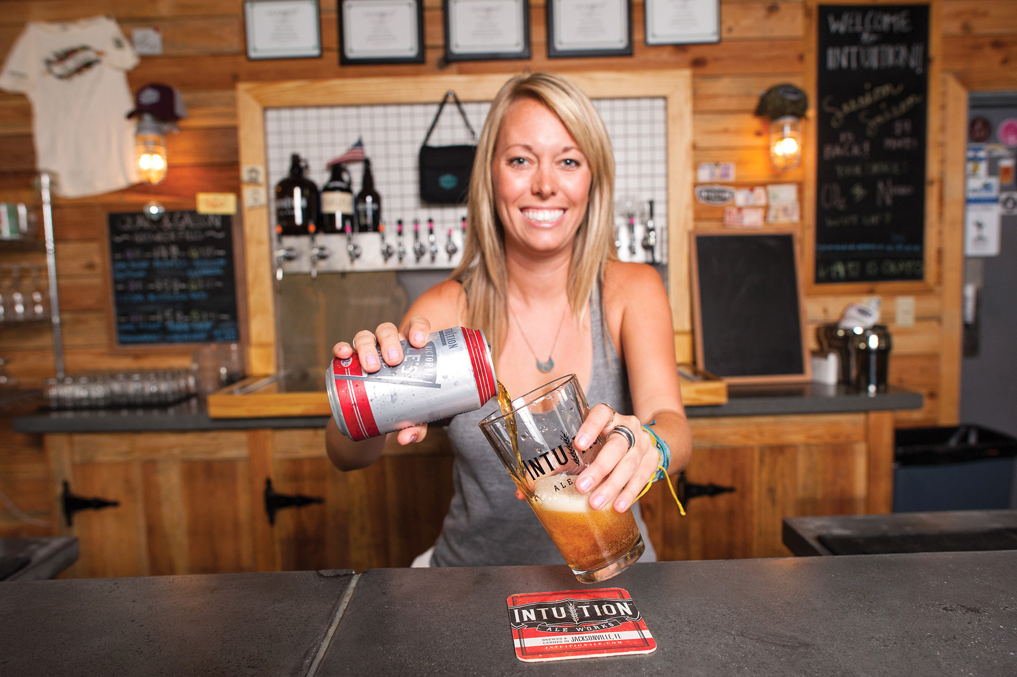 Though you can buy cans of People's Pale Ale at your corner market, Hannah Greer will pour you a selection from one of 20 taps at Intuition Ale Works.