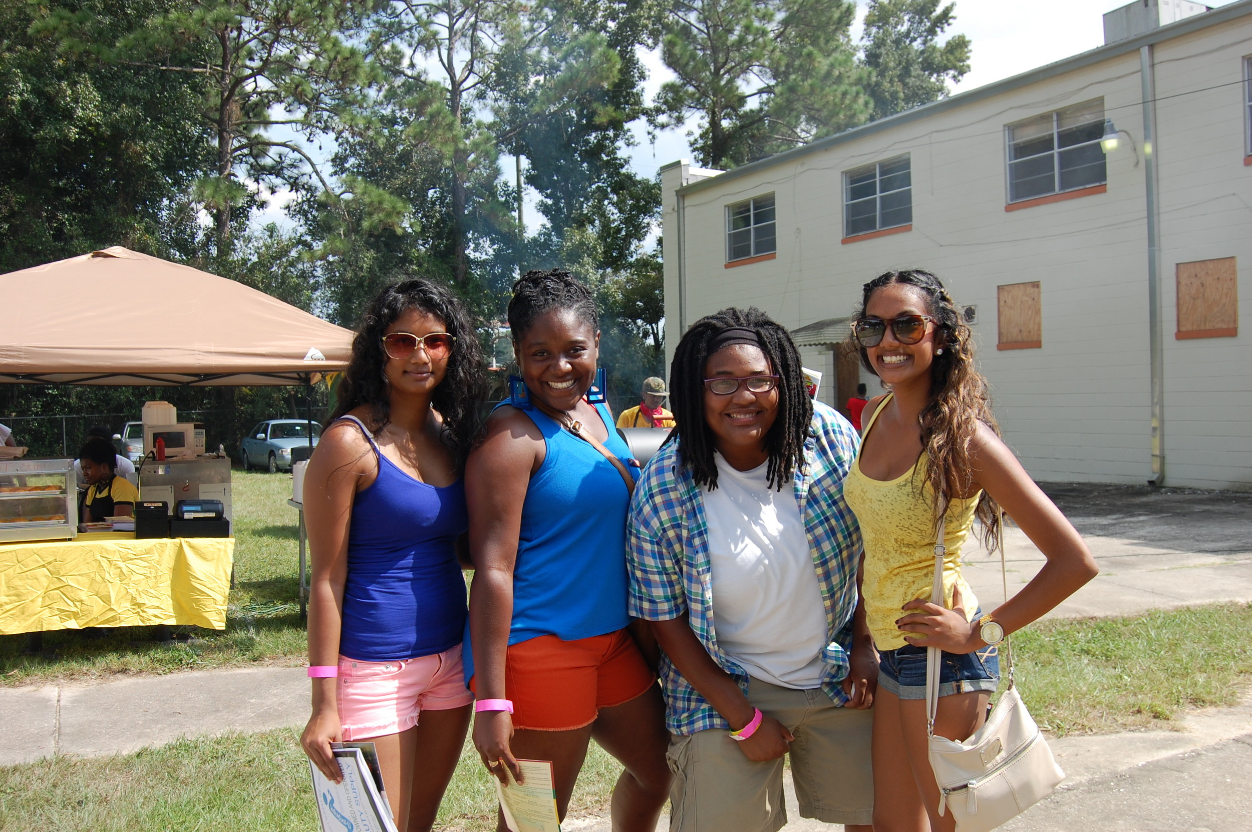 Regian Ramdass, Onie Thomas, Qierra Brown, Evadne Ramdass