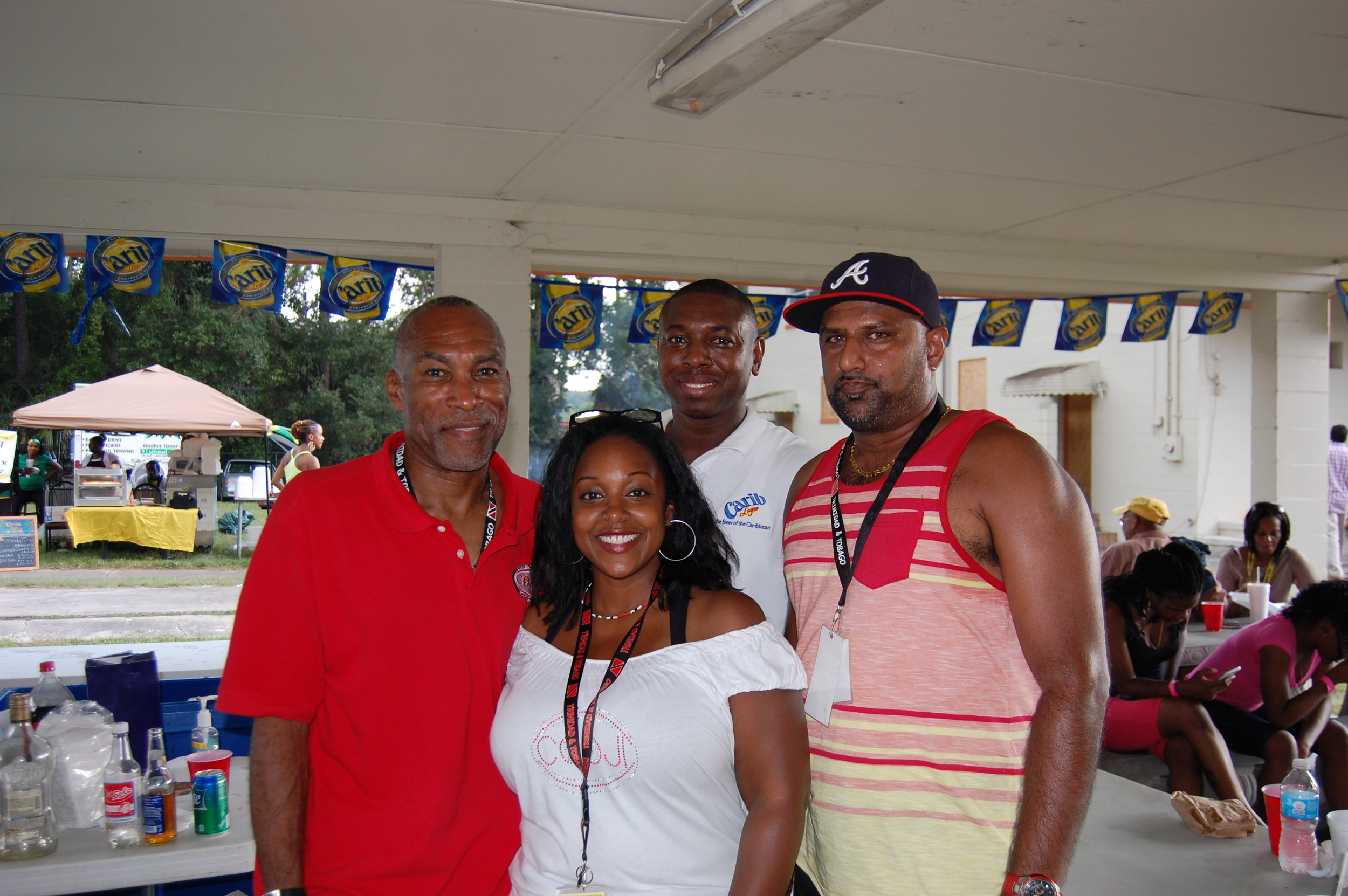 Jacksonville Carnival President Theo Jack Jr. (from left), Secretary Rejeanne Duncan, Vice President Darren Cox, marketing director Riaz Hamid