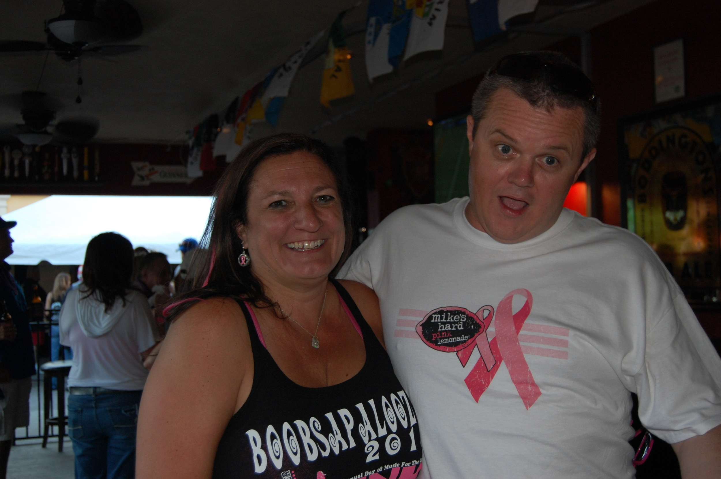 Hank Watson, president of bands against breast cancer, and Keith Doherty