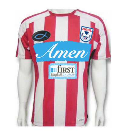 "In homage to Jacksonville's last professional soccer team— the Tea Men—First Baptist Church may want to consider sponsoring the ""Amen."""