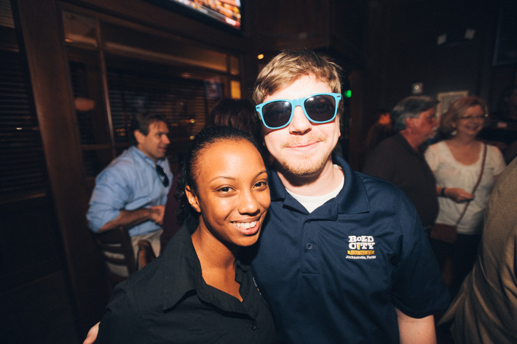 Kazzie Gregory and Kevin Miller from Bold City Brewery, Best of Jax winner for best microbrewery.