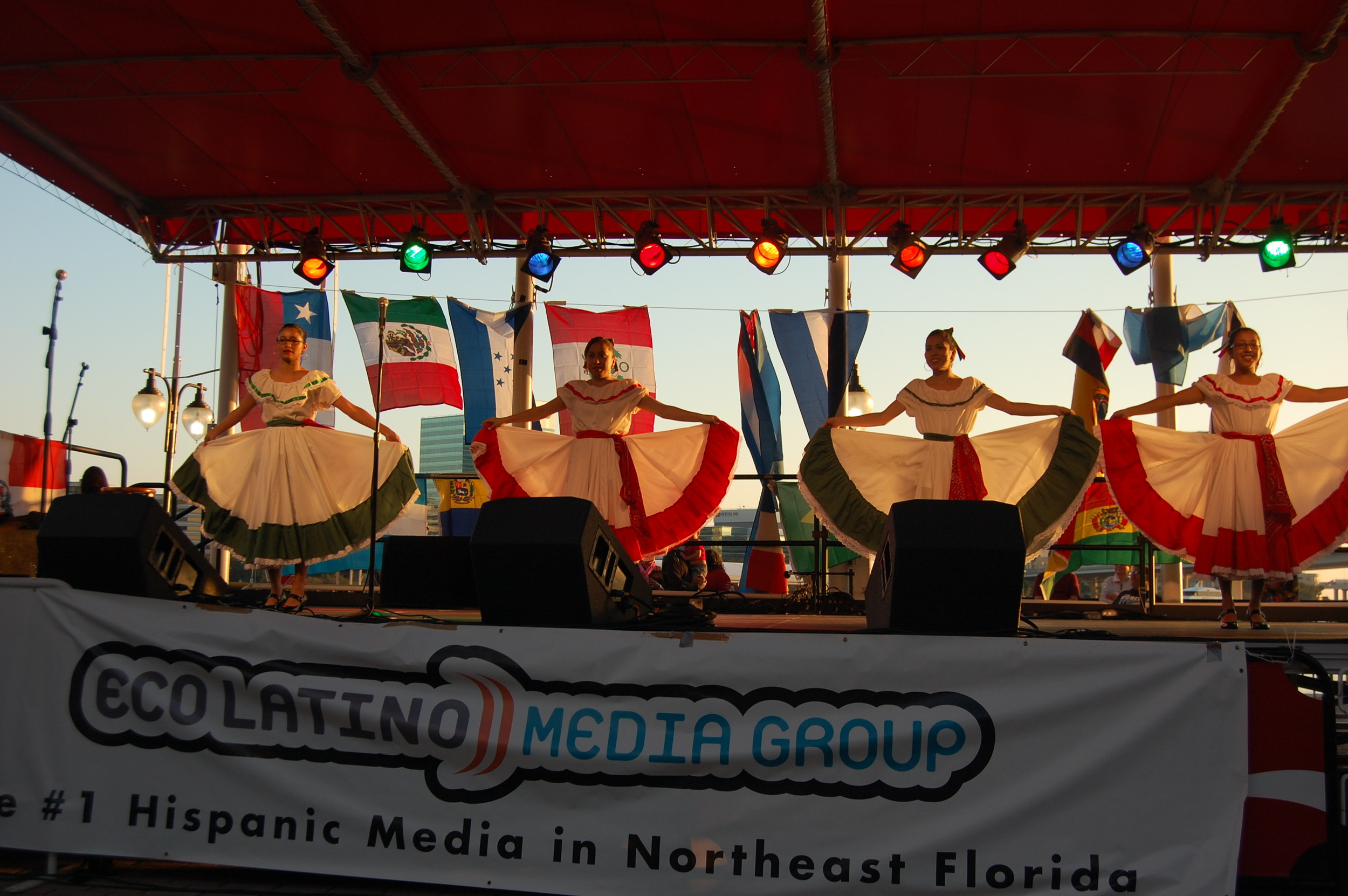 Mexican traditional dances at the Eco Latino