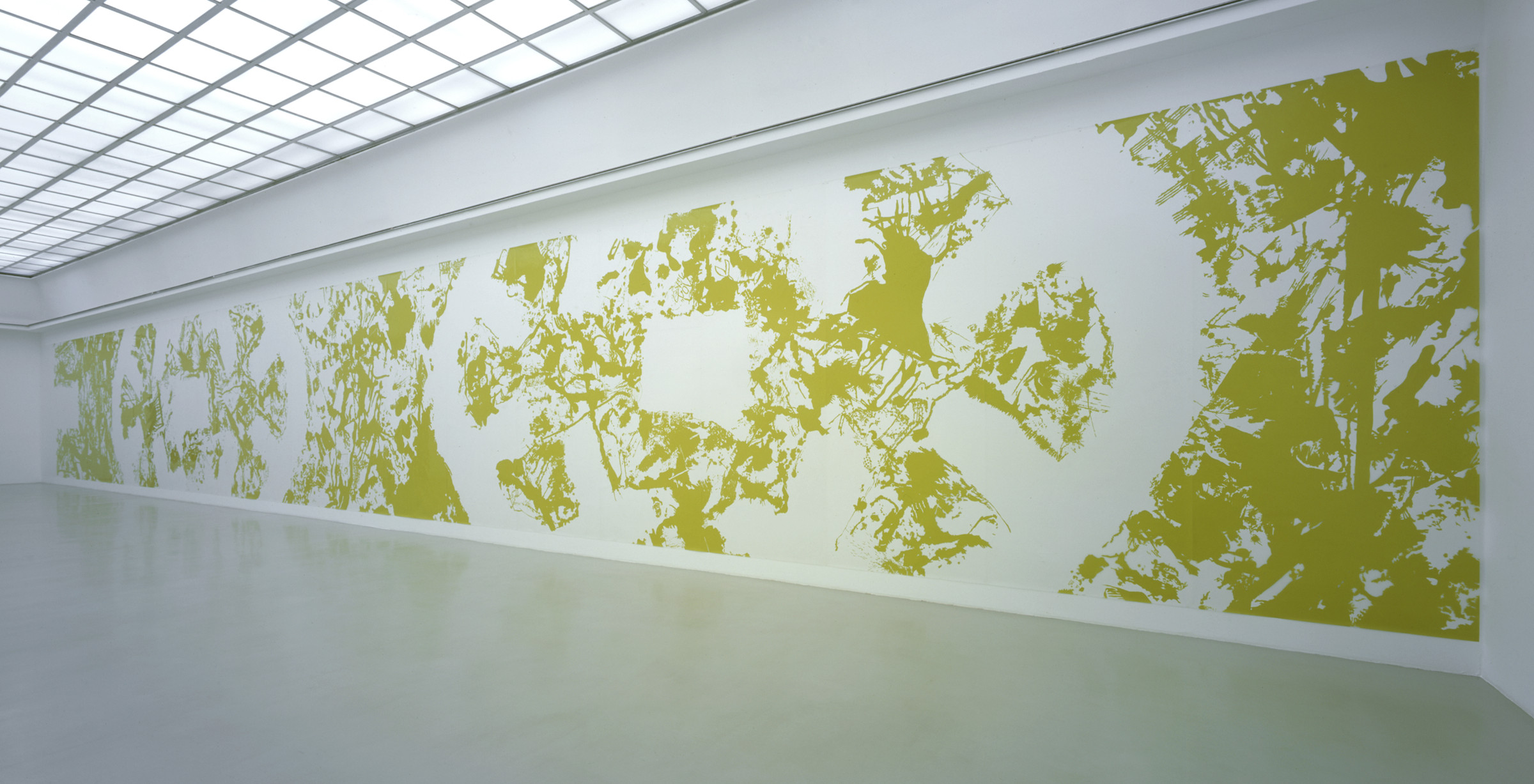 "Ingrid Calame, ""Secular Response 2 A.H.,"" 2004, enamel paint on mylar"