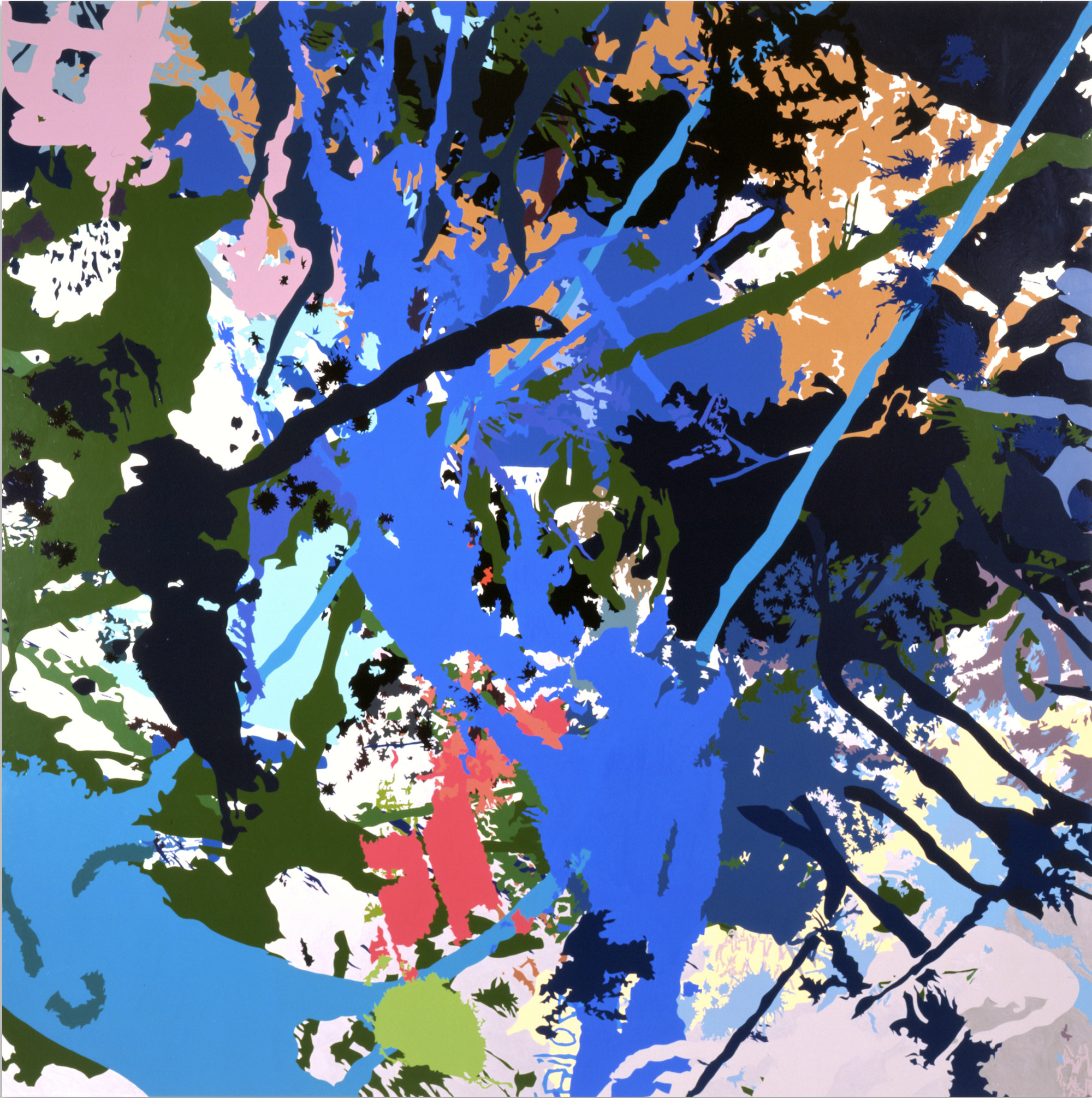 "Ingrid Calame, ""Bb-AAghch!,"" 2003, enamel paint on aluminum, 72"" x 72"""