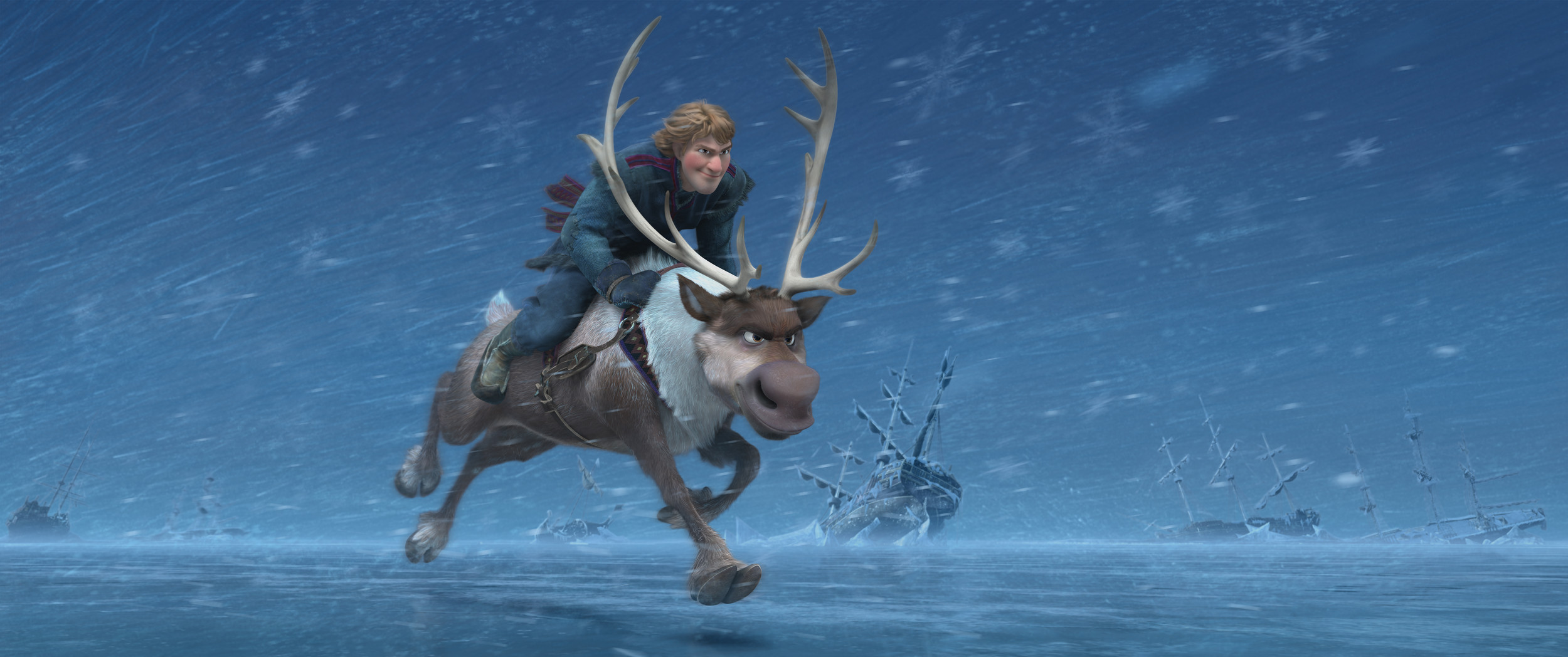 "Kristoff's and Sven in ""Frozen."""