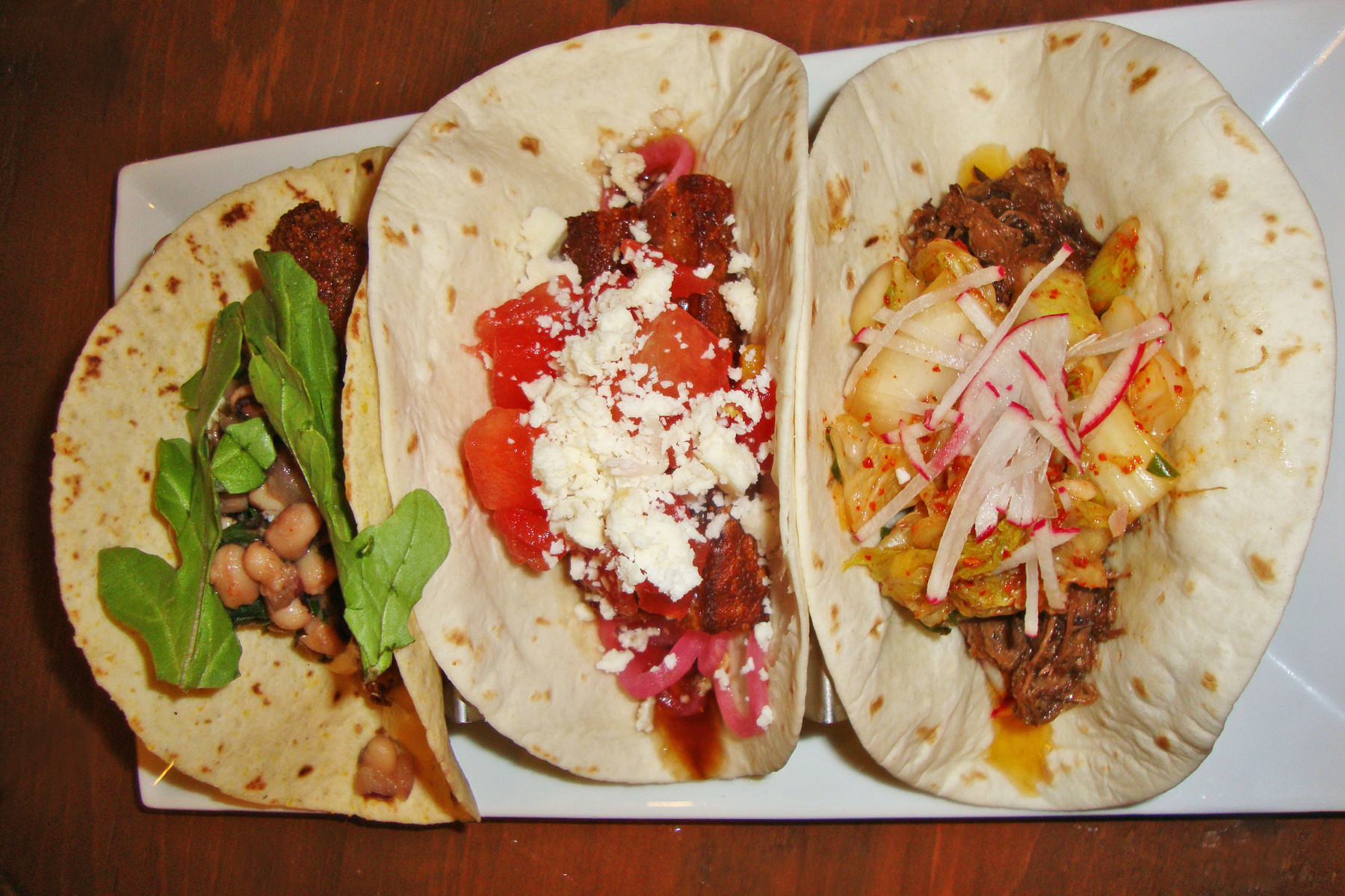 Choose from both traditional and modern taco offerings.