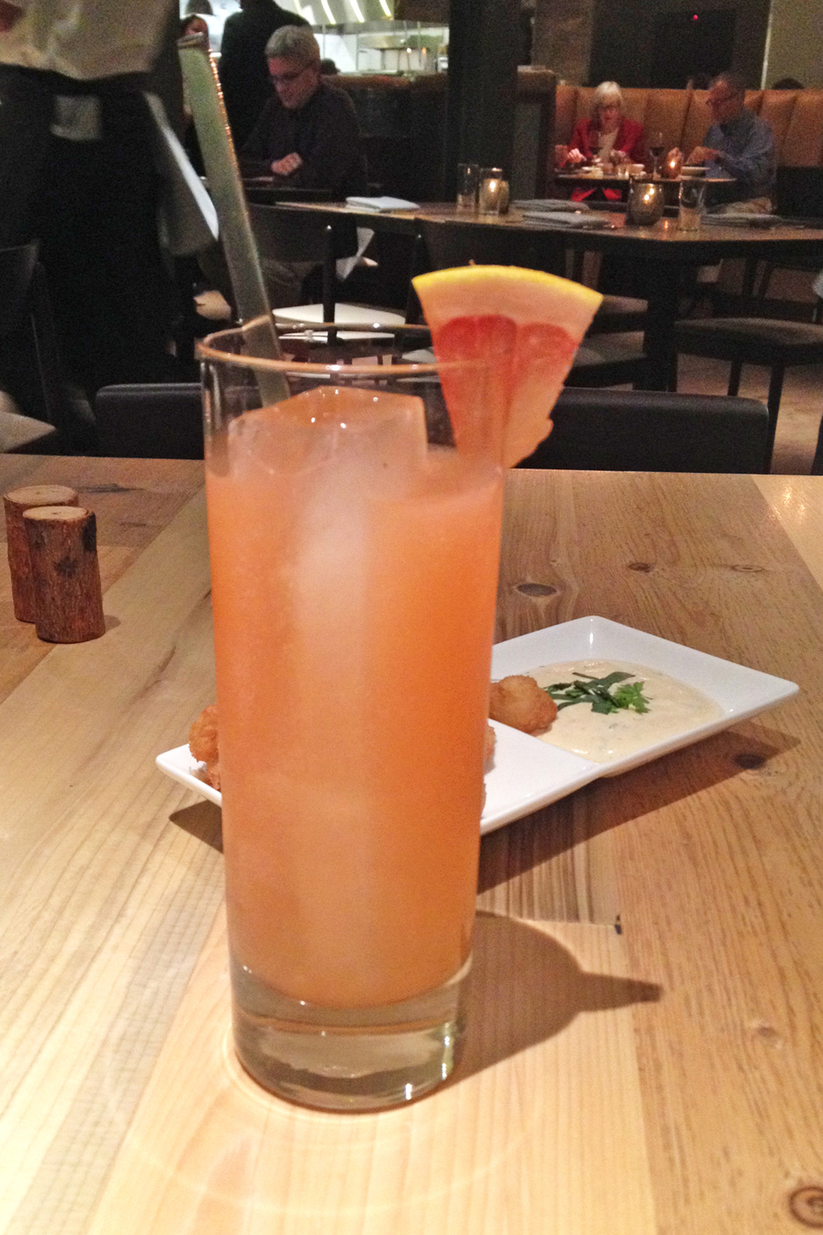 The Lorem Ipsum is a perfect blend of Hornitos Reposado tequila, citrusy grapefruit and Aperol.