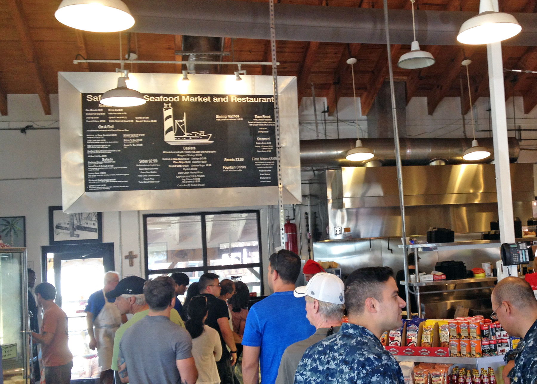 Around 12:30 on Saturday, the line was almost out the door for lunch orders.