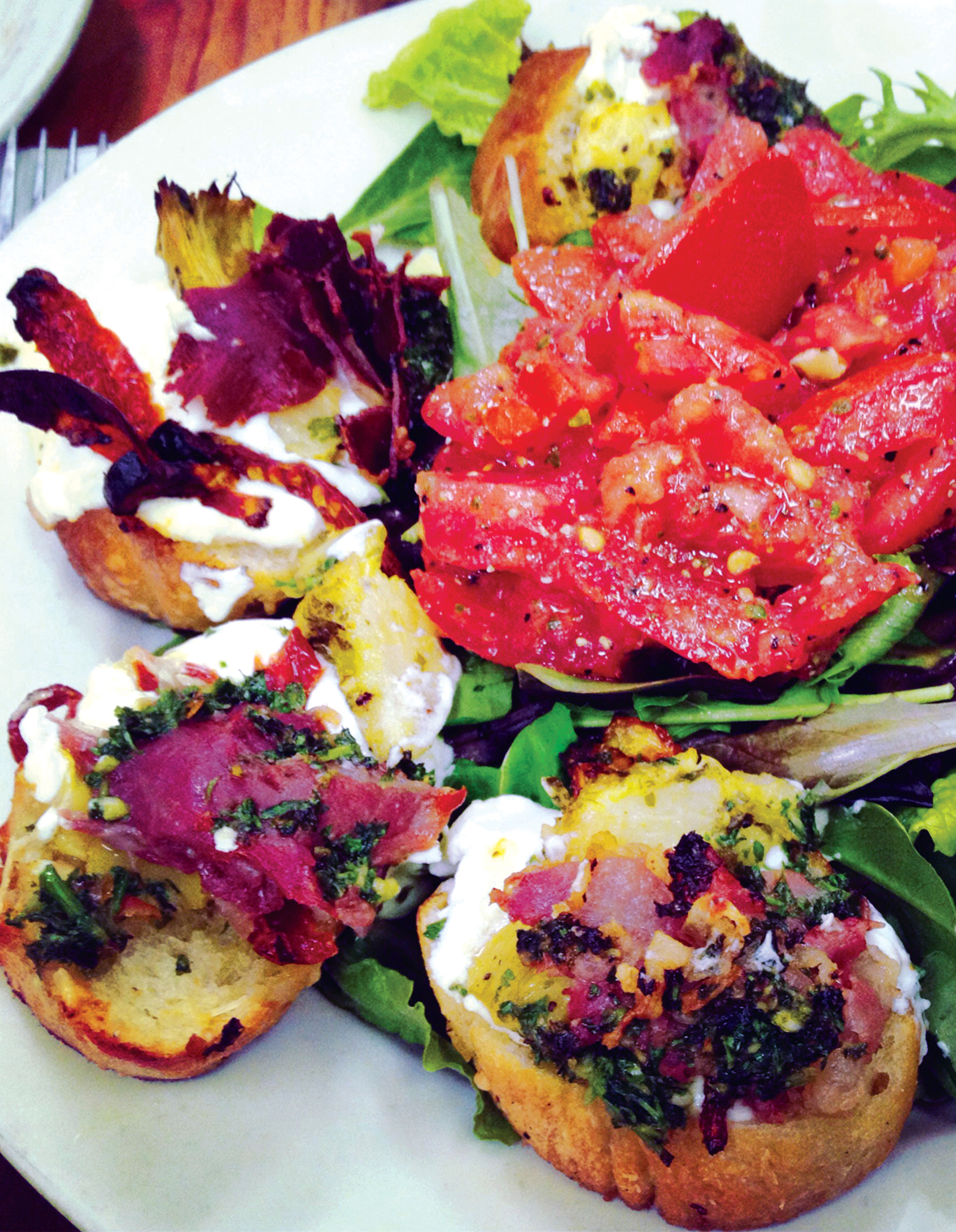 Best lunch: Bruschetta from French Pantry