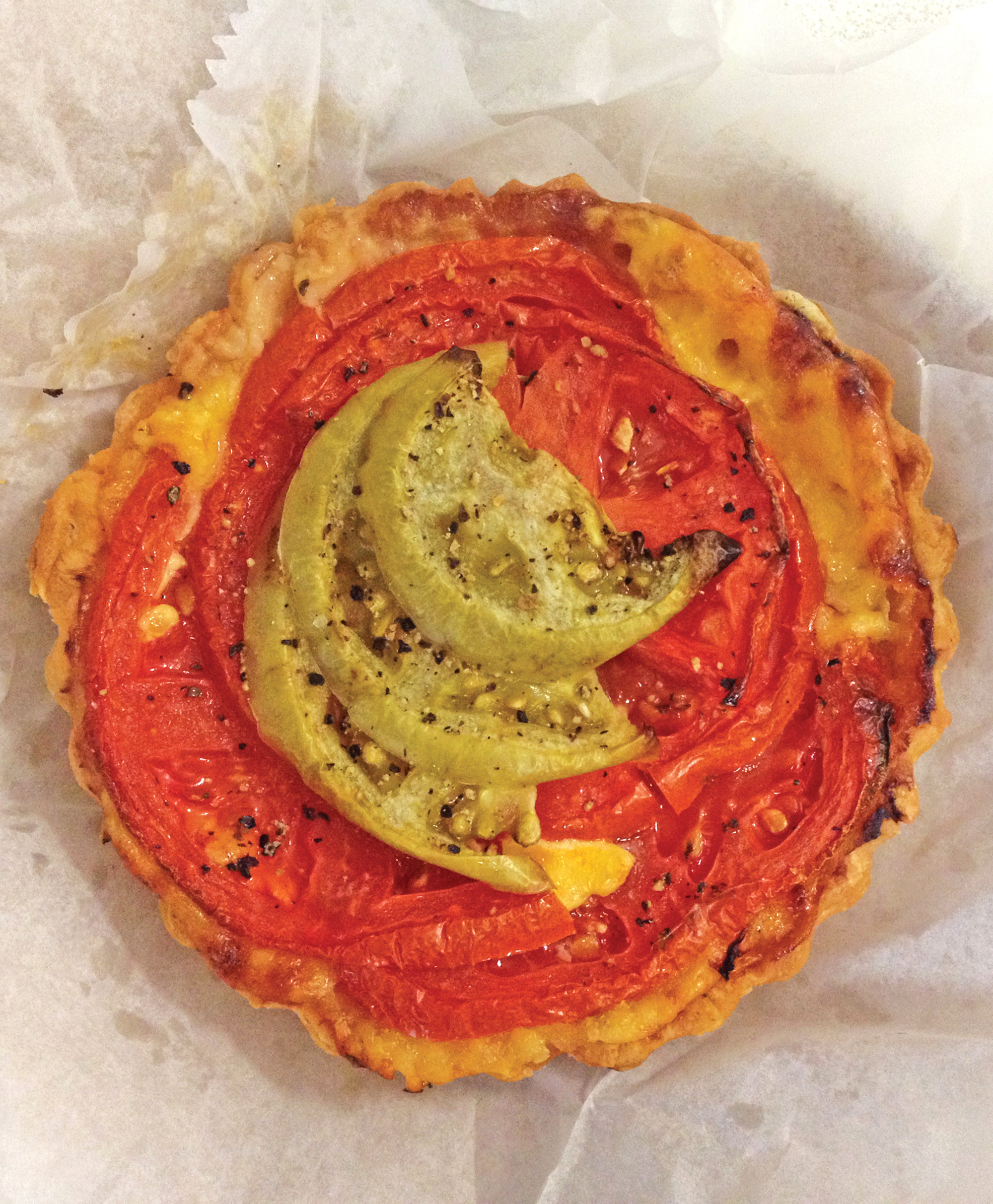 Favorite breakfast treat: Tomato pie from Bold Bean Coffee Roasters