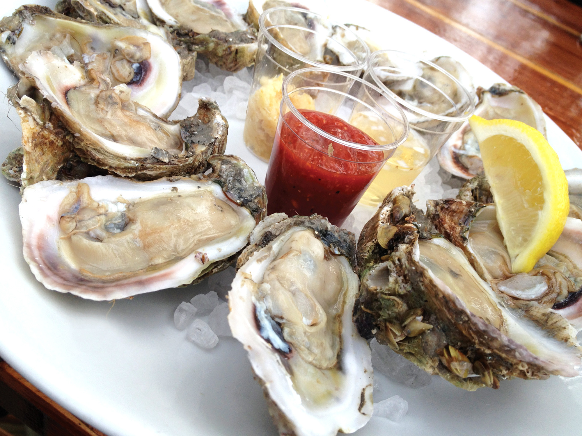 Best seafood: Raw oysters from Cap's on the Water