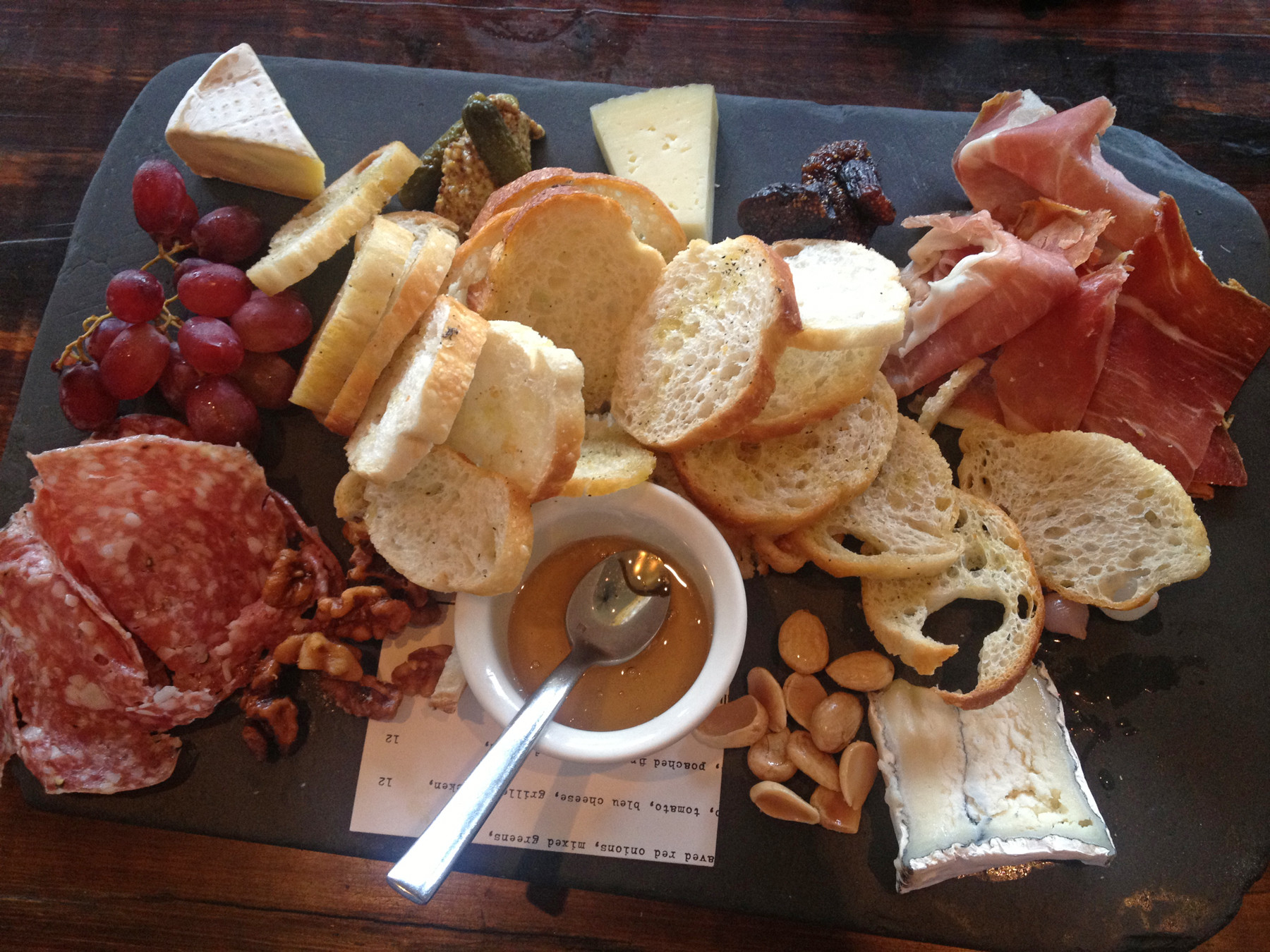 Create-your-own cheese and charcuterie plate