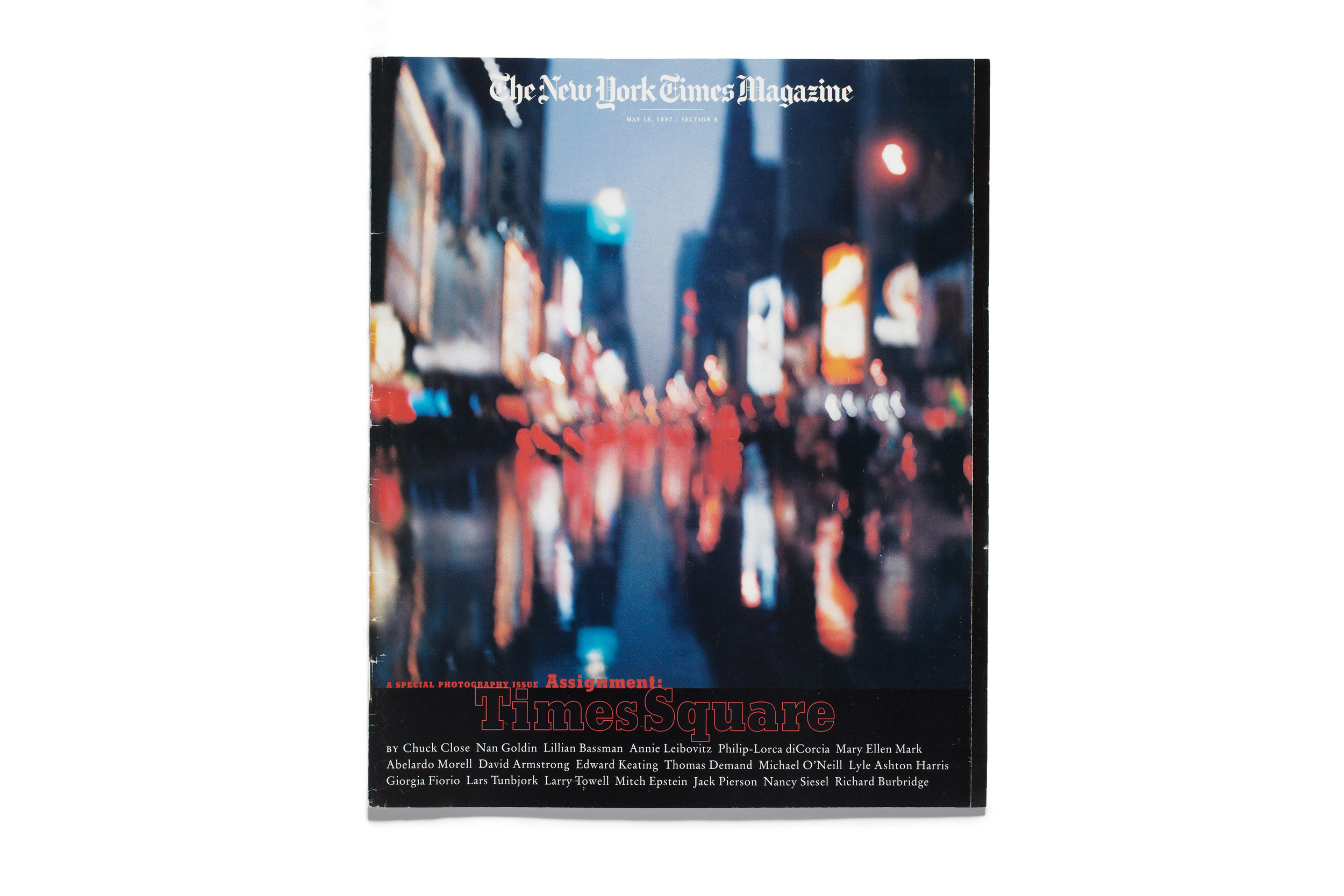 "Jack Pierson: Twilight Time (The Times Square kaleidoscope, midspin), 1997. From ""Assignment: Times Square,"" published May 18, 1997."