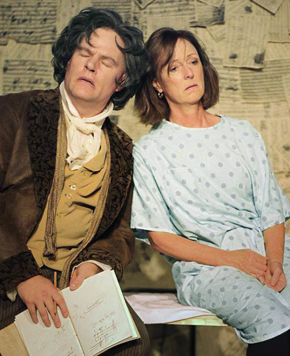 "Beethoven (Jason Woods) and Dr. Katherine Brandt (Sinda Nichols) in ""33 Variations"""