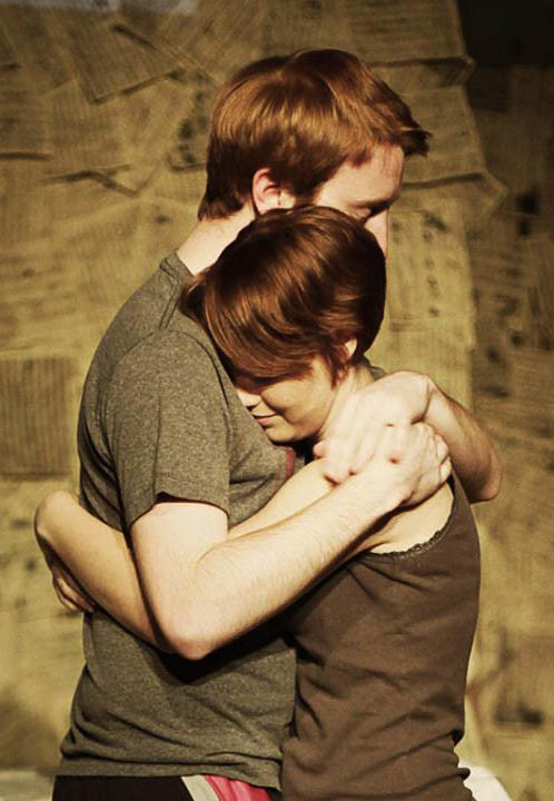 "Clara Brandt (Kristen Walsh) and Mike Clark (Franklin Ritch) embrace in ""33 Variations."""