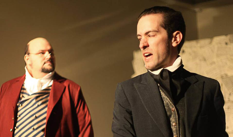 "Anton Diabelli (Jeffrey Wells) and Anton Schindler (Joshua Taylor) in ""33 Variations"""