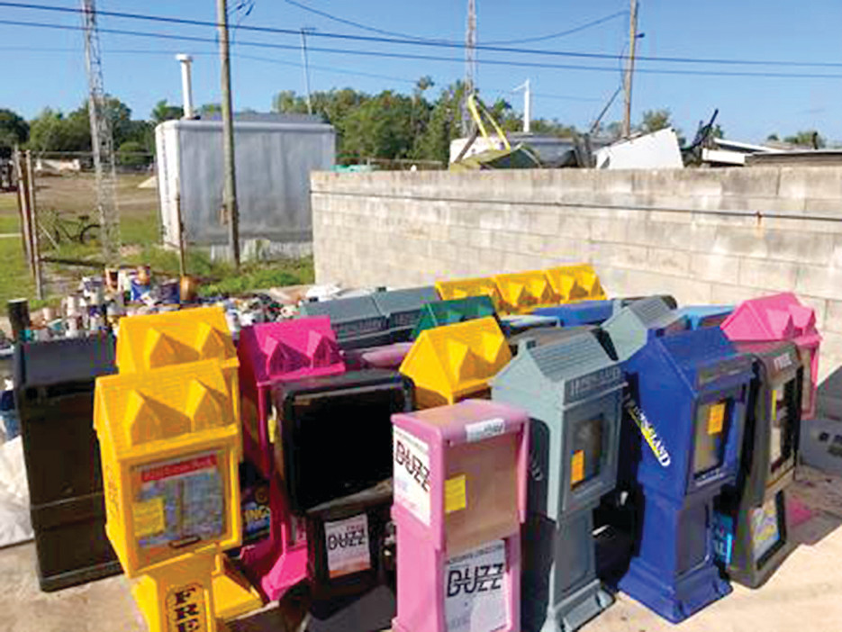 These news boxes were removed from Historic Fernandina Beach