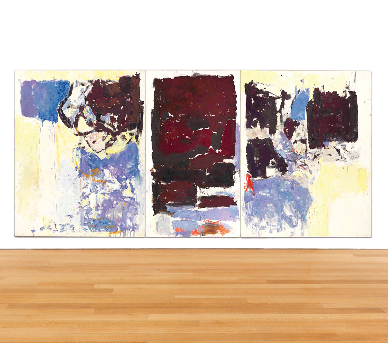 "Joan Mitchell, ""Iva,"" 1973. Oil on canvas, 110-1/2-inches x 238 inches."