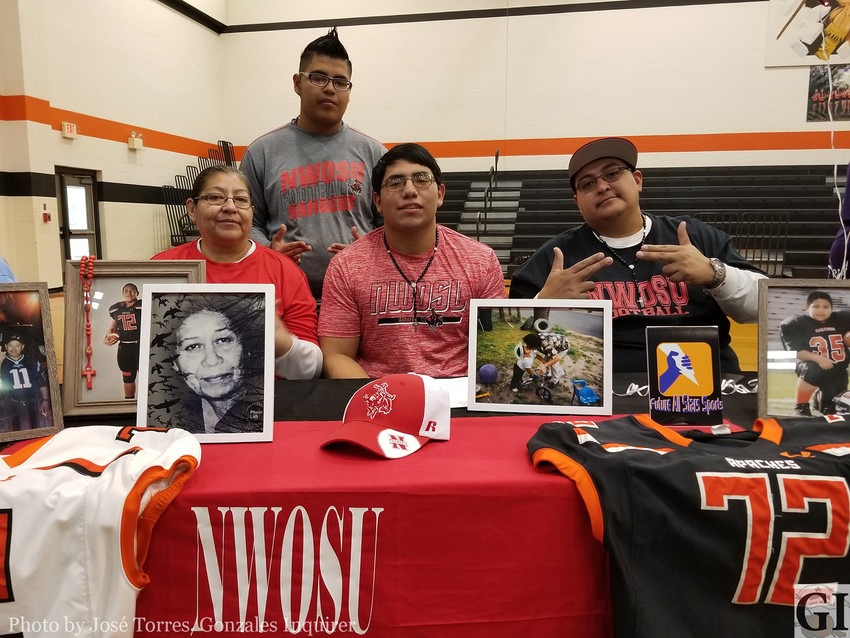 """Juan """"Bull"""" Licea signed on with Northwestern Oklahoma State University on National Signing Day last week."""