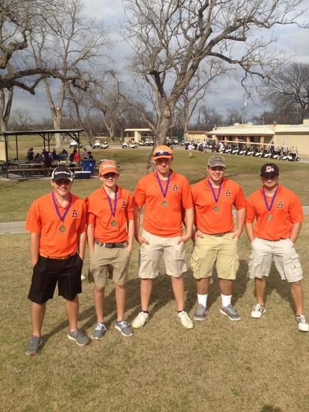 From left, Tristan Riley, Mason Richter, Jake Barnick, Wade Miller and Kolby Kifer.