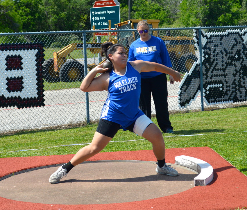 Malorie Puente (pictured) was one of three athletes who won gold at the District 30-1A track meet last week. Aquria Fields and Isaiah Miller Jones also took gold in their events.