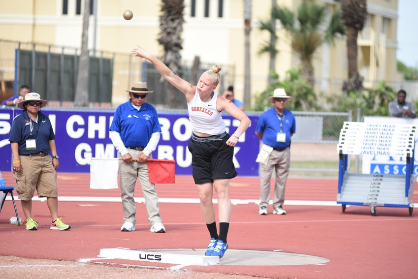 Devon Williams took gold in shot put with a distance of 39-4 and third in discus with a distance of 127-5. Williams will be competing in the UIL Track& Field State Meet that takes place from May 11-12 at Mike A. Meyers Stadium, The University of Texas at Austin.