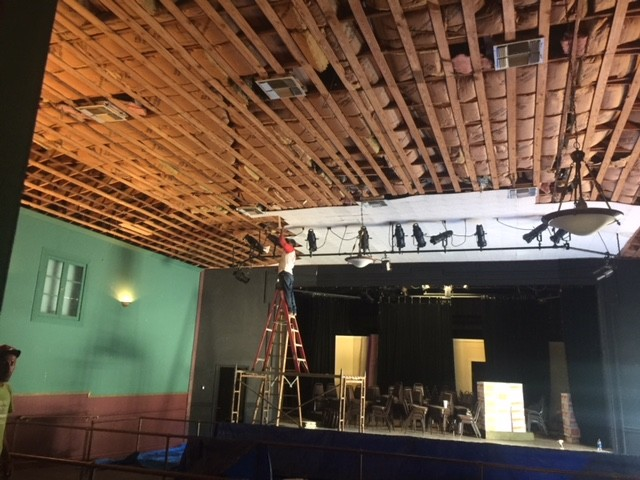 A bit of unexpected remodeling won't stop the show. The curtain parts at 3:30 p.m. today, admission is free, and the air conditioning is promised to be working. The recent construction shows the need for local support and donations to keep the shoestring Crystal Theatre and its programs going.