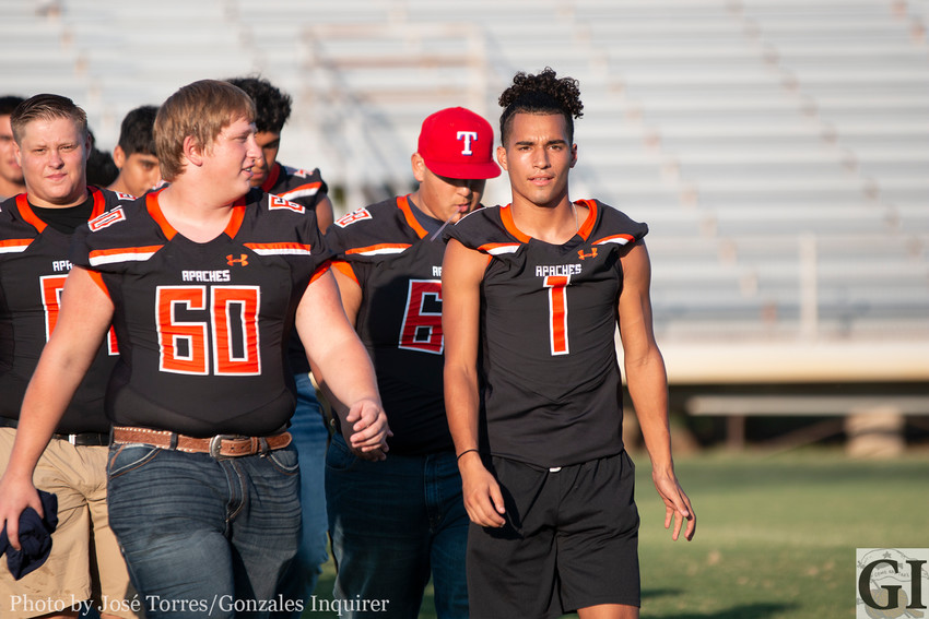 The Apaches officially introduced their teams to the community through their annual Meet the Apache Night last week. Football begins Friday with kickoff set at 7:30 p.m. at Geronimo.