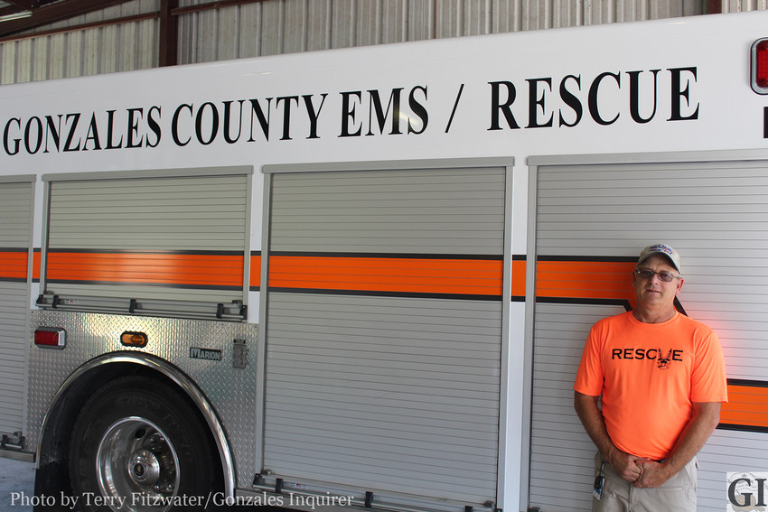 Gonzales County EMS and Rescue, under the helm of new permanent administrator Allen Linebrink (pictured here), is yet reason a business or industry would want to locate in Gonzales.