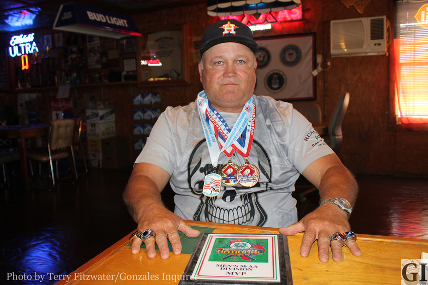 John Henry Wilkerson has a nice collection of medals and rings, but the modest man from Gonzales never shows them off or brags about them. In fact, this newspaper had to ask him five or six times to agree to do this story—that's how humble he is. Here, he shows off the rings he's won.