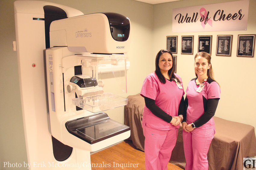 Kristy Garcia, left, and Kasey Spahn head up the mammography department at Gonzales Healthcare Systems. They are there to offer quality service and state-of-the-art technology to screen for breast cancer.