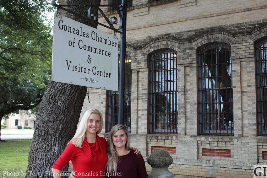 Daisy Scheske Freeman (left) and Liz Reiley-DuBose (right) are two pieces in a Gonzales Chamber of Commerce operation that helps promote, market and assist area business and community needs to our membership.
