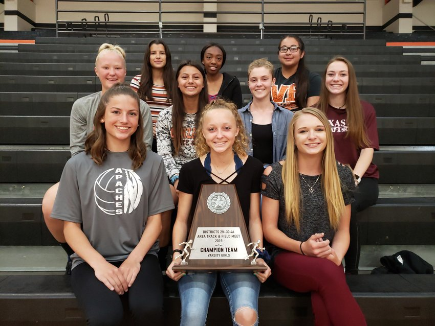 The Gonzales Lady Apaches won their first area championship ever in track and field. UIL added the area meet in between the district meet and the regional meet seven years ago. Of the area qualifiers, six will be traveling to compete in 11 of the 17 events.